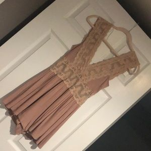 Lacey, nude romper